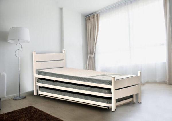 קומפורט מיטות חזקות מיטה משולשת אקסל כפולה